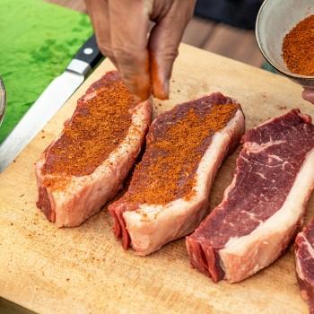 Lendebiefstuk (entrecote) op de barbecue